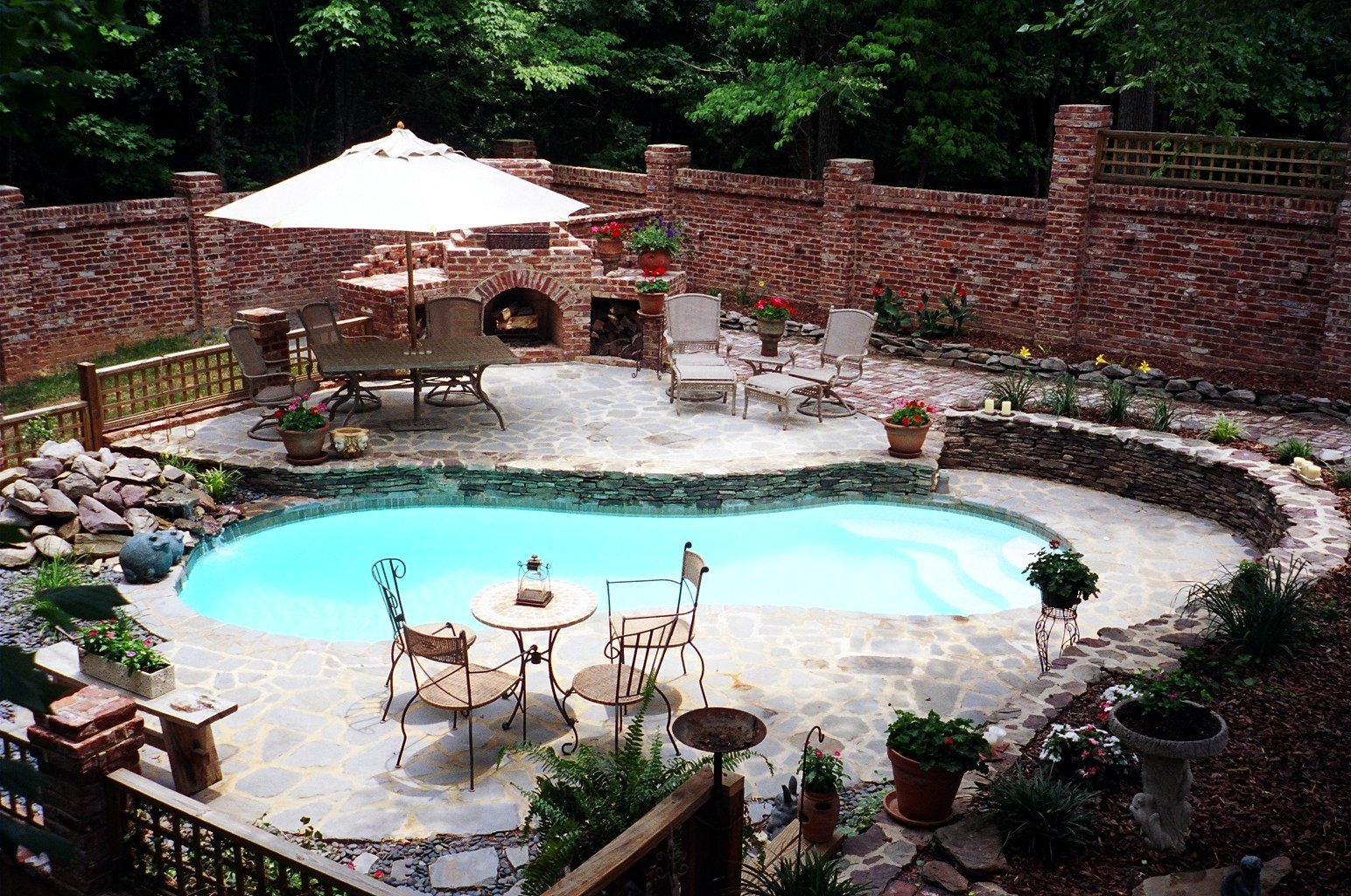 Inground Fiberglass Pools Poolscapes Of Charlotte